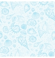 Seamless pattern of Sea shells vector image vector image