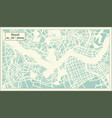 seoul south korea city map in retro style outline vector image