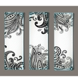 Set of bookmarks with elegant paisley ornaments vector image vector image