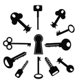 Set of Keys vector image vector image