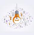 shining light bulb and set lightbulb icons vector image vector image