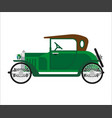 short green vintage car vector image vector image