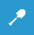 shovel icon white on the blue background vector image