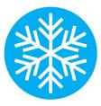 snowflake 06 vector image vector image