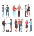 startup teams big set of isolated vector image vector image