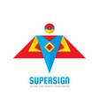 super sign - logo template concept vector image