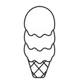 three balls ice cream icon outline line style vector image vector image