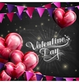 Valentines Day retro label on the blackboard vector image vector image