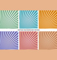 vintage abstract background set vector image vector image