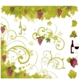 wine decorative elements vector image vector image