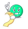 with menu circle mascot cartoon style vector image