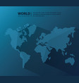 world modern background vector image