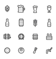 beer icons labels signs symbols and vector image