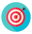 Target and Arrow Circle Icon vector image
