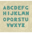 Alphabet with letters round shape with a stroke vector image