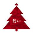 15 off fifteen percent discount christmas tree vector image vector image