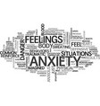 anxiety what you need to know text word cloud vector image vector image