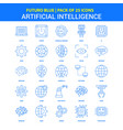 artificial intelligence icons - futuro blue 25 vector image vector image