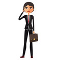 asian young business man talking the phone vector image