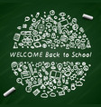back to school banner signboard vector image