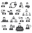 Business Management and Organization Icons Set vector image