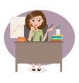 business woman in office vector image