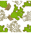 cactus pattern seamless template vector image vector image