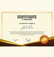 certificate3 vector image vector image