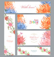 colorful collection of greeting cards with vector image vector image