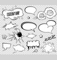 comic speech bubbles set wording sound effect vector image