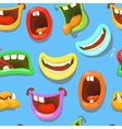 Cute monsters mouths seamless pattern vector image vector image