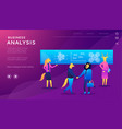 data analysis concept with characters vector image