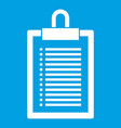 document plan icon white vector image vector image