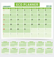eco planner in green color vector image vector image