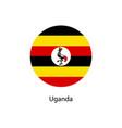 flag of uganda vector image