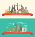 flat design composition with vector image vector image