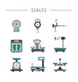 flat icons of scales vector image vector image