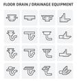 Floor drain icon vector image vector image