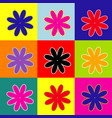 flower sign pop-art style vector image vector image