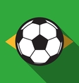 football icon with Brazil flag background vector image vector image