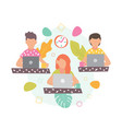 freelance in flat style vector image