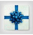 Gifts box color blue on gray background EPS 10 vector image