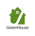 green house logo concept design symbol graphic vector image vector image