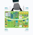 Infographic businessman hand hold business bag vector image vector image