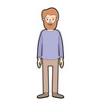 light color caricature thick contour full body man