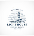 lighthouse abstract sign symbol or logo vector image vector image