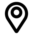 Map Pointer Stroke Icon vector image
