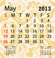 may 2013 calendar albino snake skin vector image