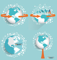 Modern globe and City with application icon modern vector image