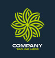 modern tree leaf and garden logo vector image vector image
